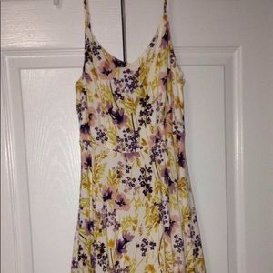 old navy floral fit and flare dress size S